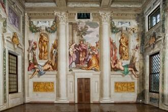 Fanzolo, Villa Emo, the main hall