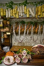 "Butcher shop ""Tagliavento"" in Bevagna, Italie"