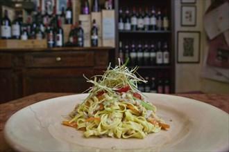 """Bevagna, the """"Bottega Di Piazza Onofri"""", wine shop and restaurant"""