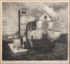 "Augusto Baracchi (1878-1942), ""Assisi, Basilica of St. Francis"""