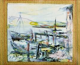 """Ghigo Zanfrognini (1913-1995), """"Boats"""""""