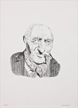 """Remo Zanerini, """"Portrait of an Old Man with Cigar"""""""