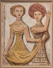 "Museo Novecento: ""Two female dancers"", by  Massimo Campigli (Max Ihlenfeld), 1938"