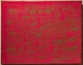 """Museo Novecento: """"Redgreen"""", by Carla Accardi, 1966"""