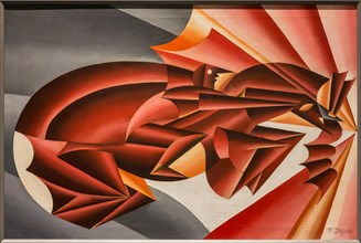 "Museo Novecento: ""Neigh in speed"", 1932, by Fortunato Depero"