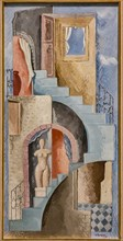 "Museo Novecento: ""Statue and Staircase"", by Renato Paresce, 1931"