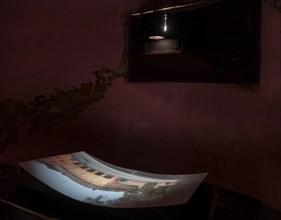 Fontanellato, Rocca Sanvitale: the XIX century optical chamber