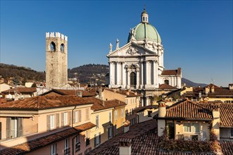 Brescia, view of the town from the Hotel Vittoria