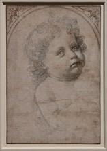 """""""Bust of Child in three quarter view"""", by Andrea Del Verrocchio"""