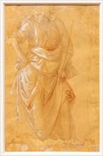 """""""Male Draped Figure"""", by Filippo Lippi"""