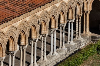 Monreale, Duomo, cloister of the Benedictine monastery