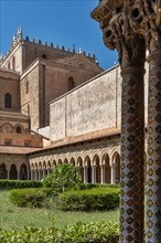 Monreale, Duomo: the Eastern side of the cloister