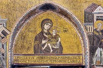 "Monreale, Duomo: ""The Virgin Odigitria (Madonna and Child)"""
