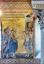 "Monreale, Duomo: ""Healing of ten leprous men"""