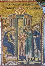 """Monreale, Duomo: """"Christ and the Woman Taken in Adultery"""""""