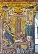 "Monreale, Duomo: ""Jesus healing the paralytic"""