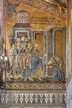 """Monreale, Duomo: """"Jesus healing the hunchbacked woman from her hump"""""""