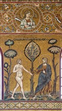 """Monreale, Duomo: """"God introduces Adam into the Earthly Paradise"""""""