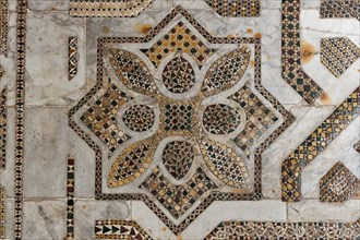 Monreale Cathedral, Northern transept: mosaic floor in opus sectile with geometric motifs