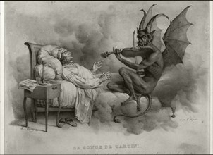 Tartini's dream, illustration by Louis-Léopold Boilly