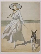 """""""Donna sulla spiaggia con levriero"""""""
