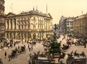 Piccadilly Circus, London, England, Photochrome Print, Detroit Publishing Company, 1900