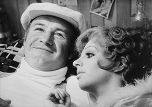 "Gene Hackman and Liza Minnelli, On-Set of the Film, ""Lucky Lady"", 1975"