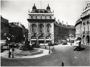Piccadilly Circus, London, England, United Kingdom, circa early 1950's