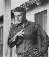 "Steve McQueen, Portrait in Denim Shirt, on-set of the Film, ""Baby the Rain Must Fall"", 1965,"