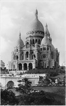 Church of Sacre Coeur de Montmartre, Paris, France, circa 1940