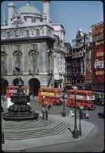 Piccadilly Circus, London, England, UK, 1960