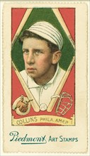 Eddie Collins, Philadelphia Athletics, Baseball Card Portrait, Liggett & Myers Tobacco Company, 1914