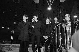 Arrival and Press Conference of the British Rock and Roll Band The Beatles, Washington, D.C., USA, photograph by Marion S. Trikosko, February 11, 1964