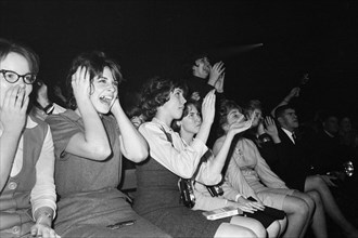 Excited Fans Reacting to The Beatles British Rock and Roll Performing, Washington Coliseum, Washington, D.C., USA, photograph by Marion S. Trikosko, February 11, 1964