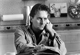 """Michael Douglas, on-set of the Film, """"Fatal Attraction"""", Paramount Pictures, photo by Andy Schwartz, 1987"""