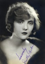 British-American Actress, Head and Shoulders Publicity Portrait, 1920's