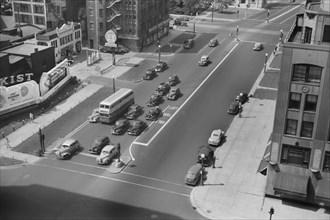 High Angle View of Street Scene