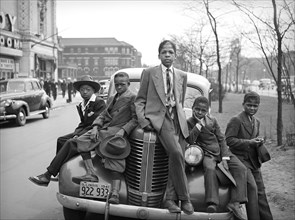 Group of African-American Boys on Easter Morning