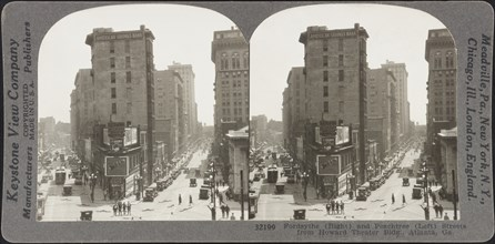 Fordsythe (right) and Peachtree (left) Streets from Howard Theater Bldg.