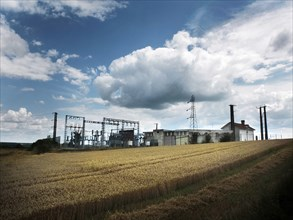Electricity Substation in Rural Field