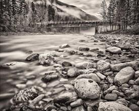 White River and Bridge, British Columbia,