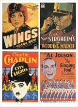 Montage of Movie Posters featuring (clockwise): Clara Bow