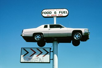 Cadillac Ranch Food & Fuel Sign, Route 95
