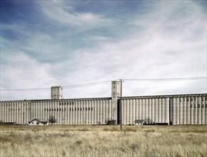 Grain Elevators along Route of Atchison, Topeka and Santa Fe Railroad