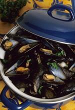 France, Haute Normandie, Seine Maritime, gastronomie, cassolette de moules marinieres,