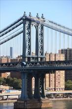 usa, etat de New York, New York City, Manhattan, brooklyn, pont de brooklyn bridge, pietons, vehicules, jogging, circulation, pointe de Manhattan, Manhattan bridge,