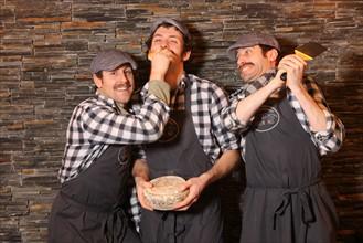 Les 3 fondateurs des restaurants Big Fernand