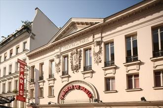 France, ile de france, paris 9e arrondissement, 15 rue blanche, theatre de paris, salle de spectacle, facade  Date : 2011-2012