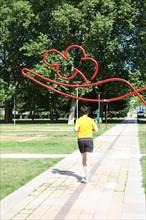 France, ile de france, paris, 12e arrondissement, bercy, parc de bercy, jardin yitzhak rabin, espace vert, jogging, sportif  Date : 2011-2012
