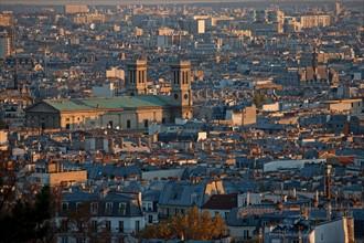 Montmartre,Vues sur les toits depuis les alentours du Sacré Coeur